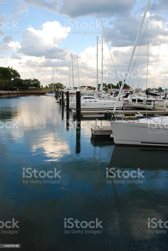 Chicago Harbor, portrait stock photo