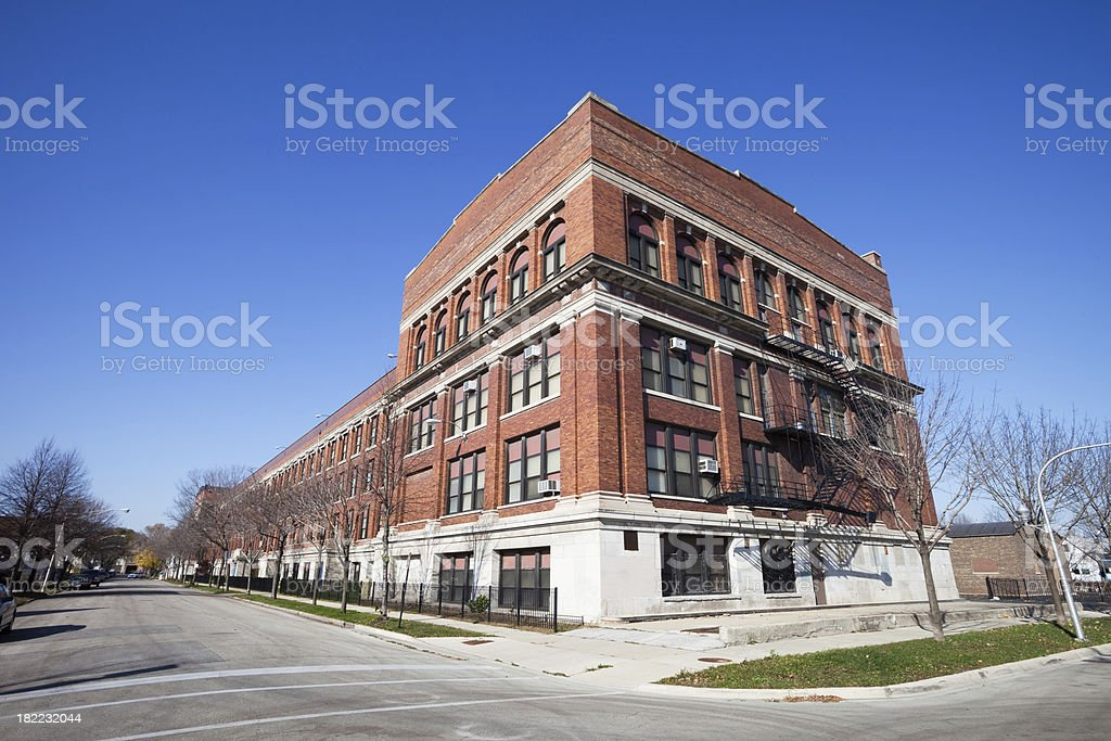Chicago High School on the Southwest Side royalty-free stock photo