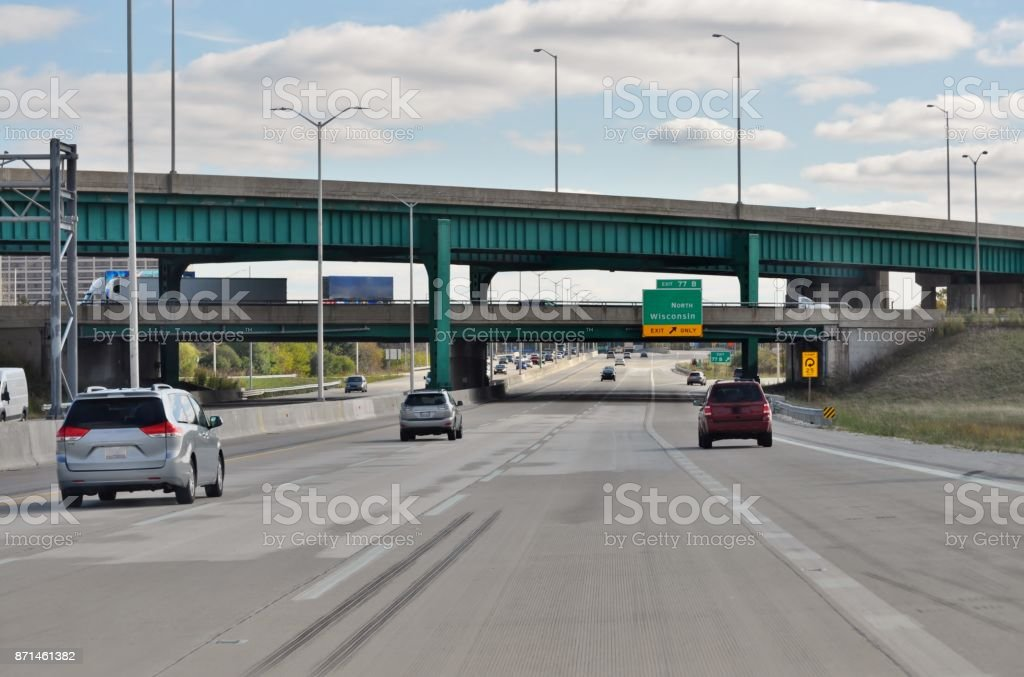 Chicago Highway I90 Stock Photo - Download Image Now - iStock
