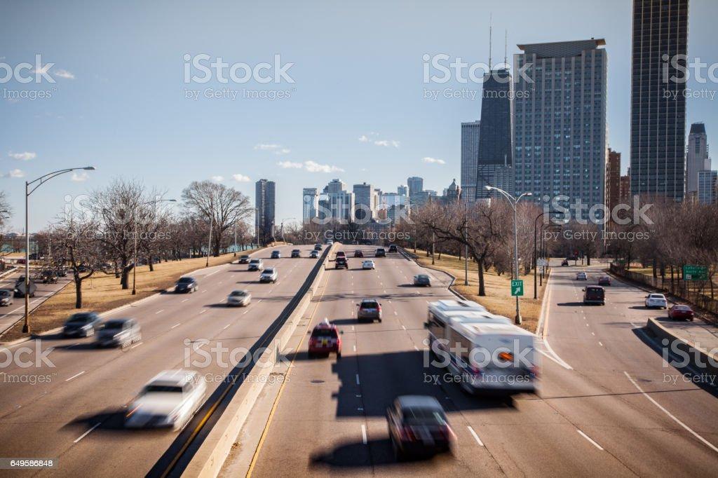 Chicago Highway stock photo