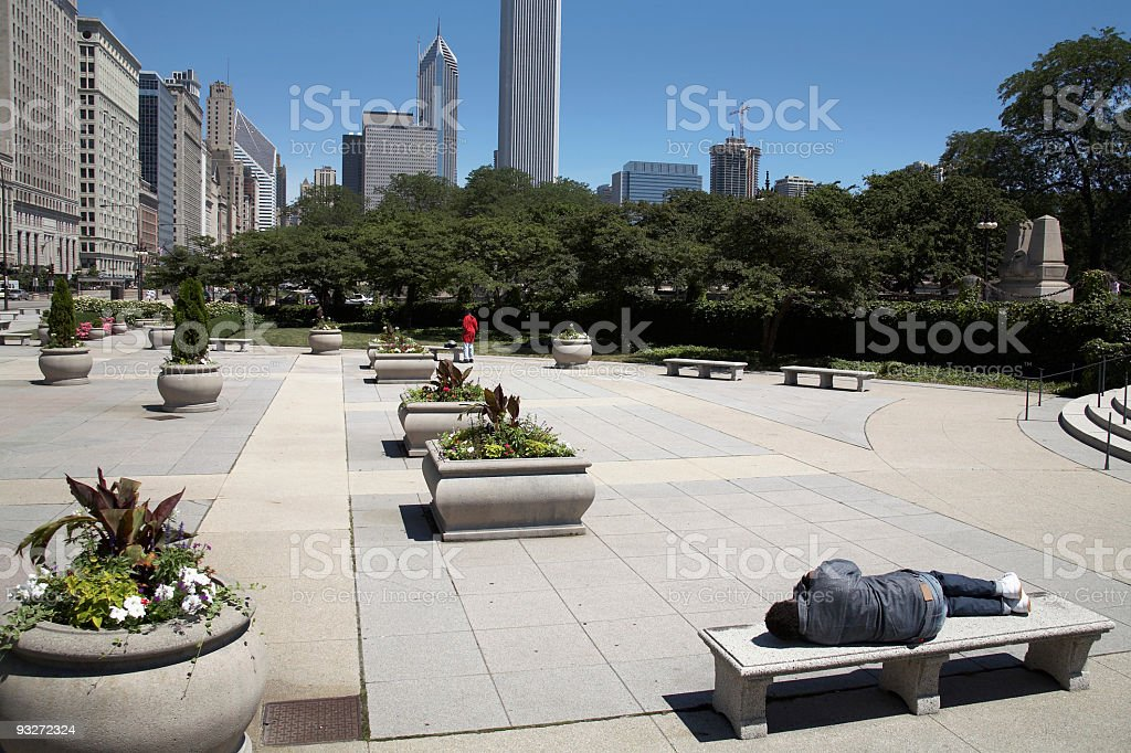 Chicago Homless Man royalty-free stock photo