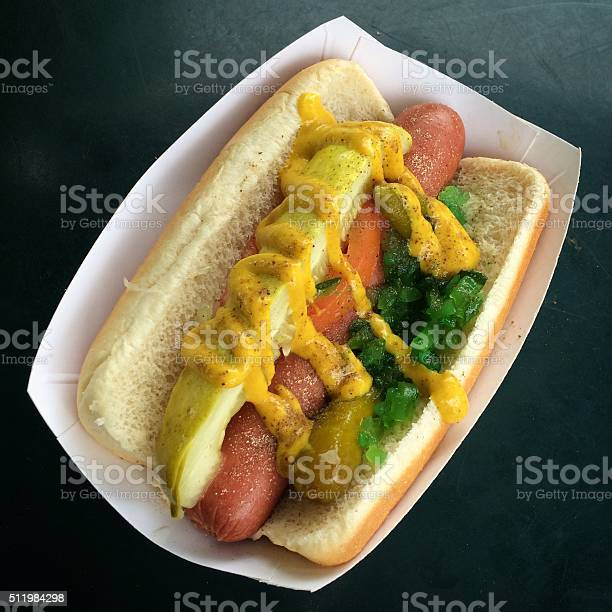 Chicago Hot Dog Classic Style Stock Photo - Download Image Now