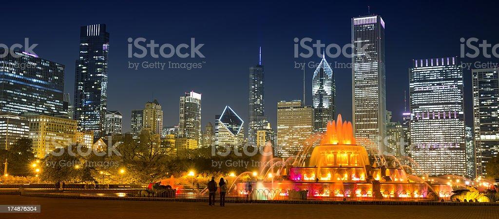 Chicago Illinois skyline stock photo