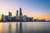 istock Chicago, Illinois, USA downtown skyline from Lake Michigan 1284404391