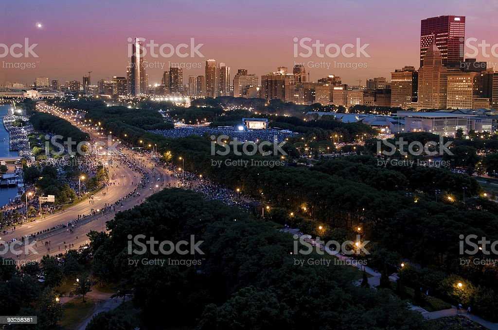 Chicago Independence Day royalty-free stock photo