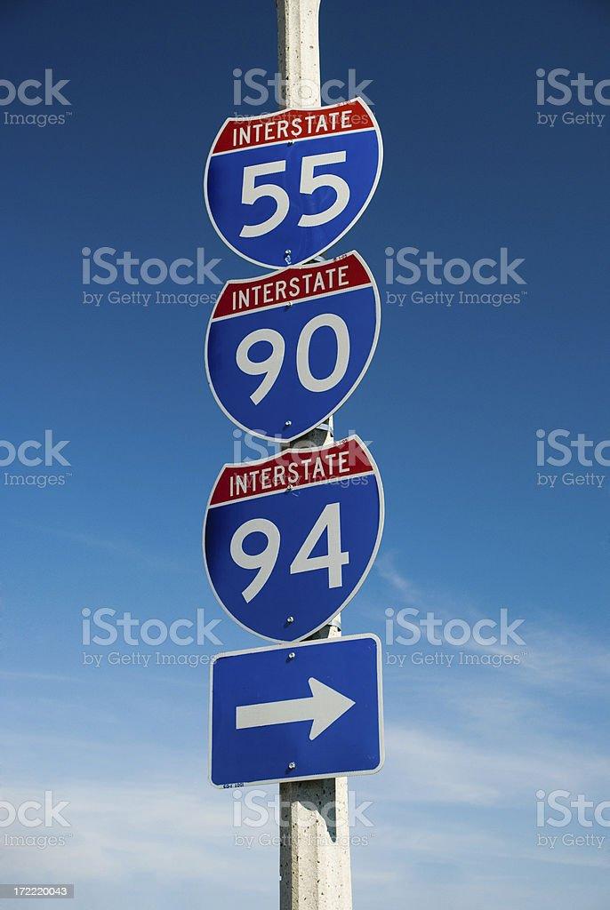 Chicago Interstates royalty-free stock photo