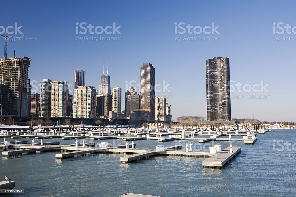 Chicago Lakefront Apartments royalty-free stock photo