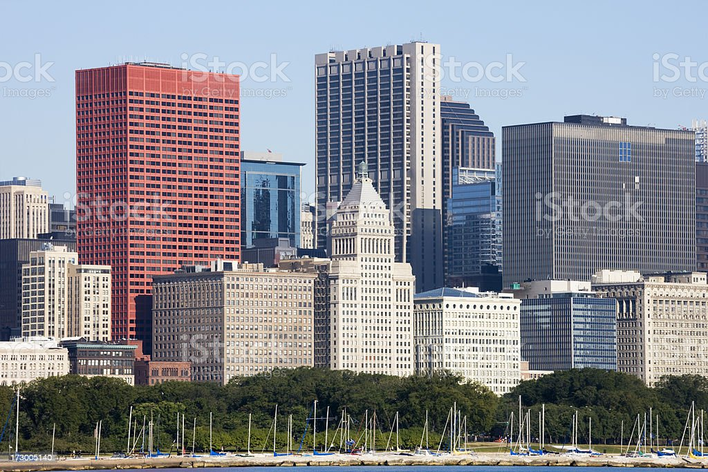 Chicago Lakefront Architecture royalty-free stock photo