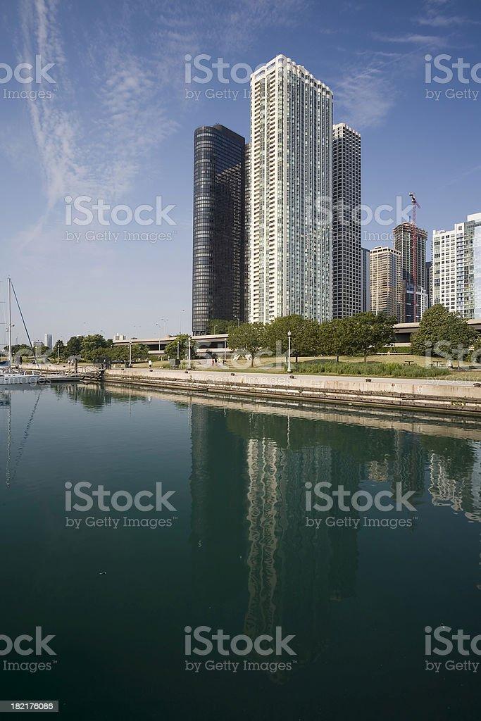 Chicago Lakefront Condominiums royalty-free stock photo