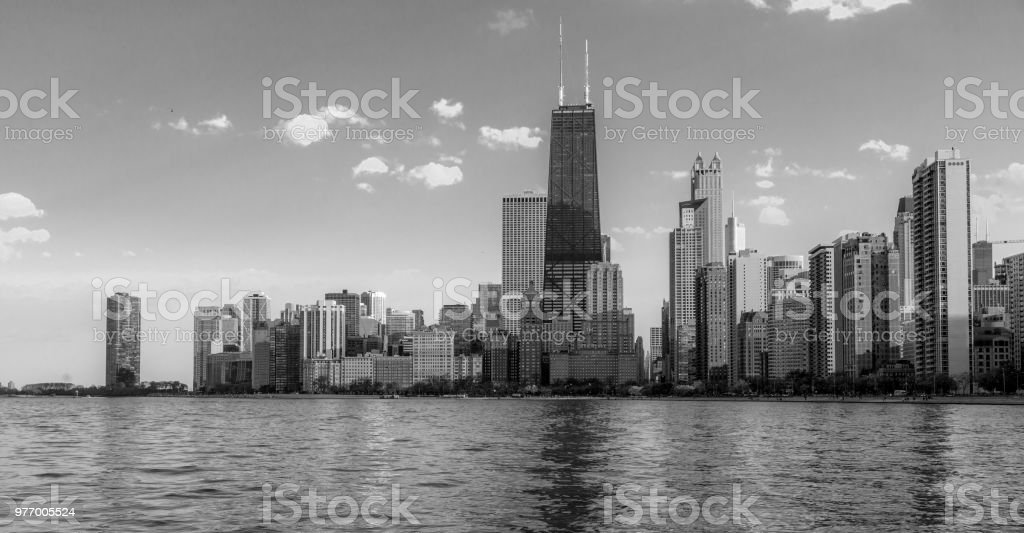 Chicago Lakefront Panorama stock photo