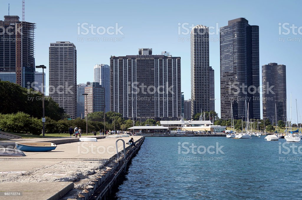 Chicago Lakefront royalty-free stock photo