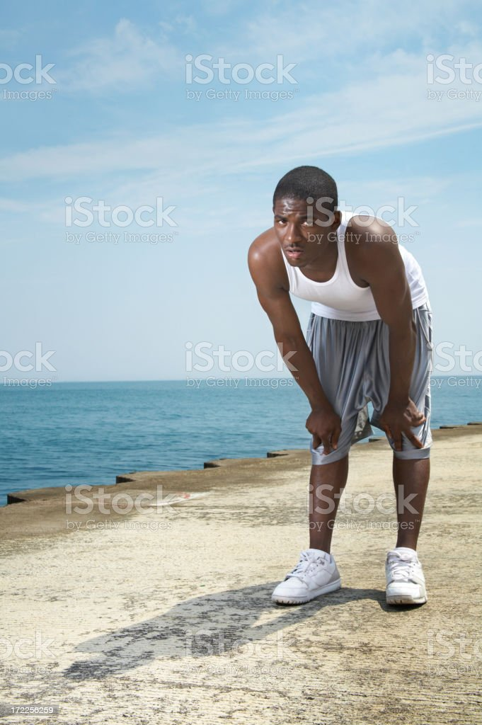 Chicago Lakefront Workout royalty-free stock photo