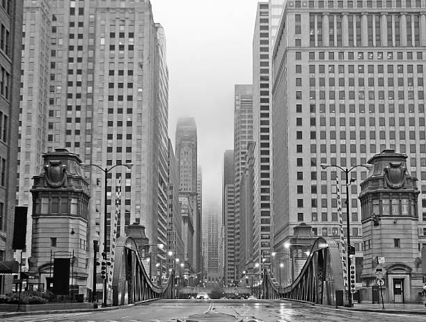 chicago lasalle boulevard vintage - 1920 er - 20er jahre stock-fotos und bilder
