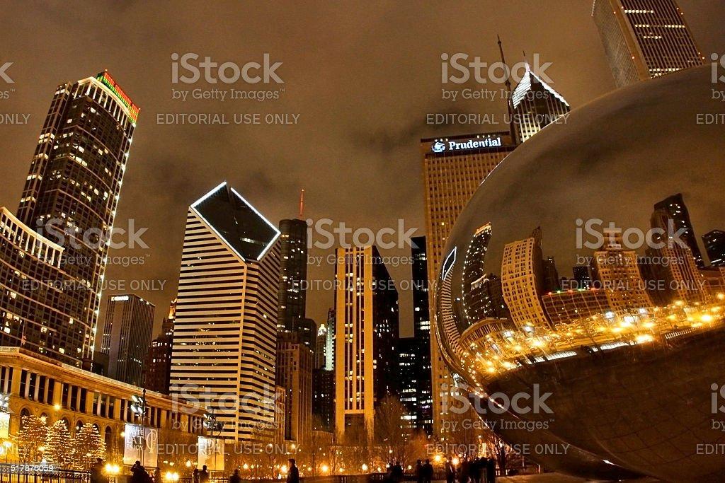 Chicago lights stock photo