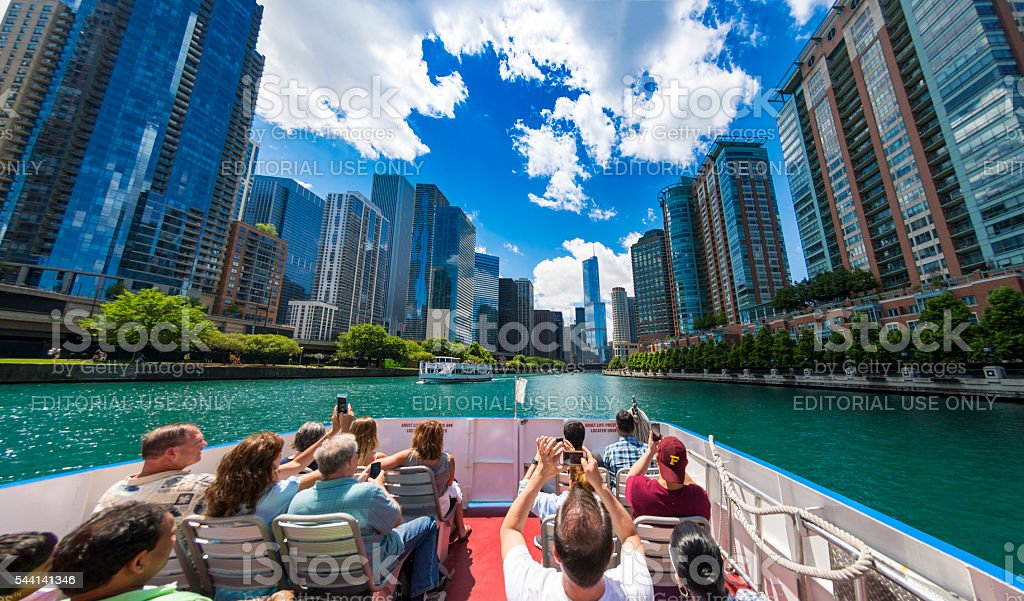 Chicago Loop Boat Trip stock photo