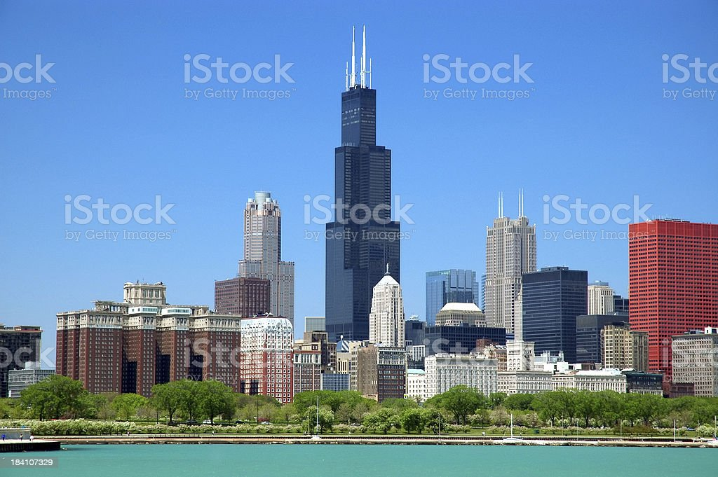 Chicago loop skyline stock photo