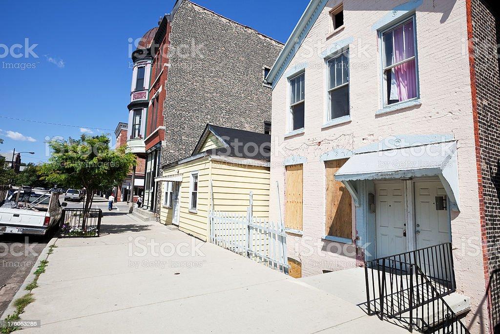 Chicago Lower West Side Neighborhood Street royalty-free stock photo