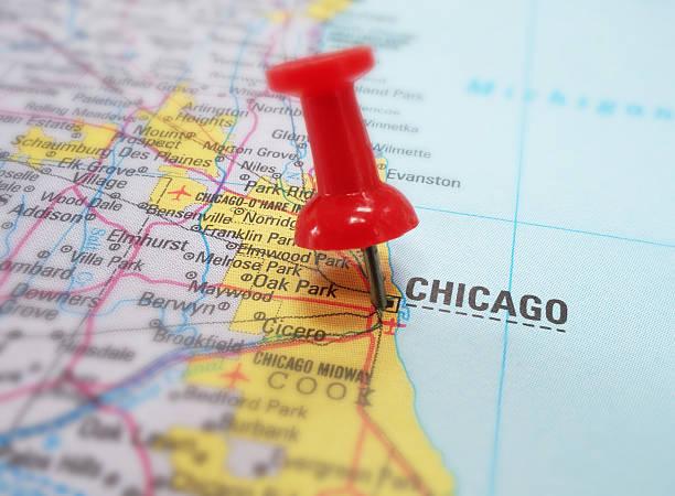 Chicago map stock photo