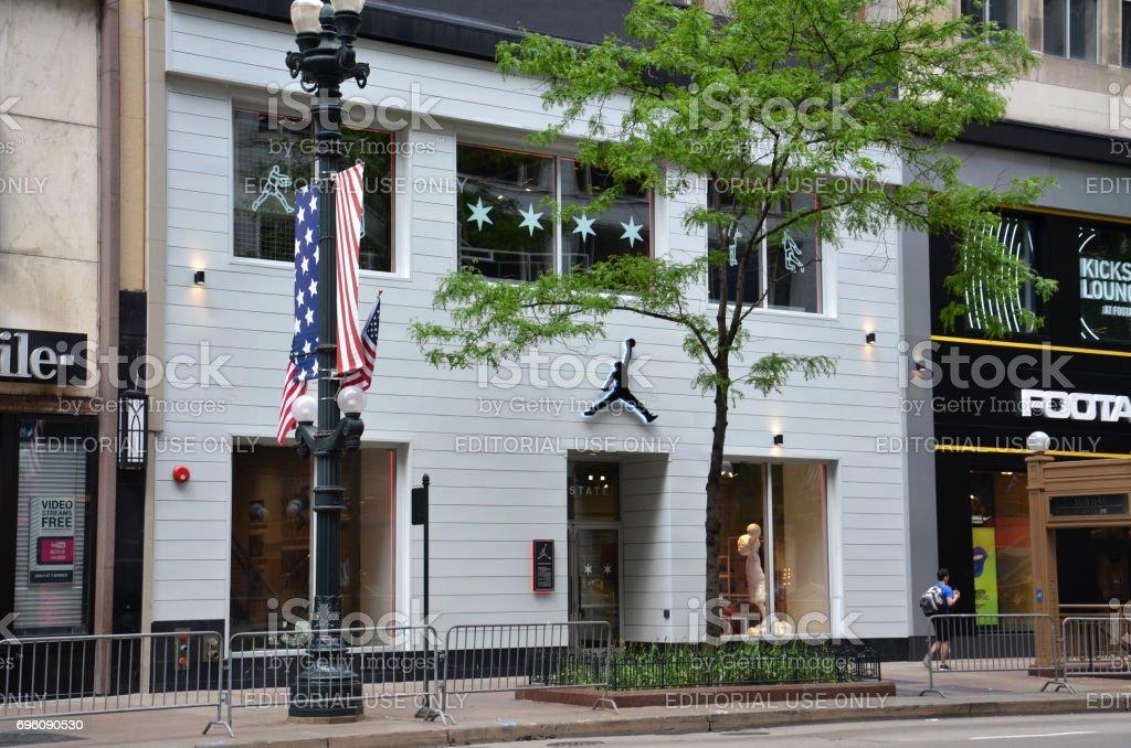 Chicago Michael Jordan store stock photo