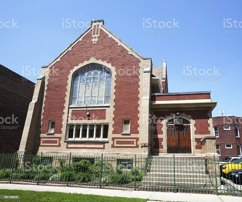 Chicago Milal Church in Albany Park royalty-free stock photo