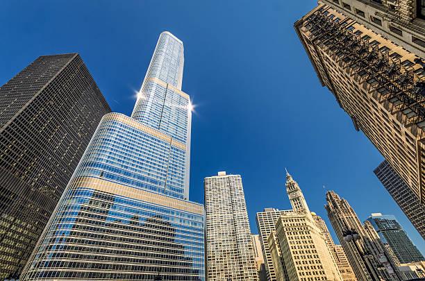 Chicago Morning stock photo