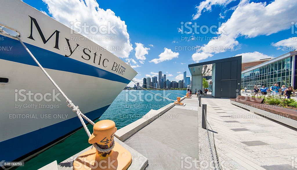 Chicago - Navy Pier Boat stock photo
