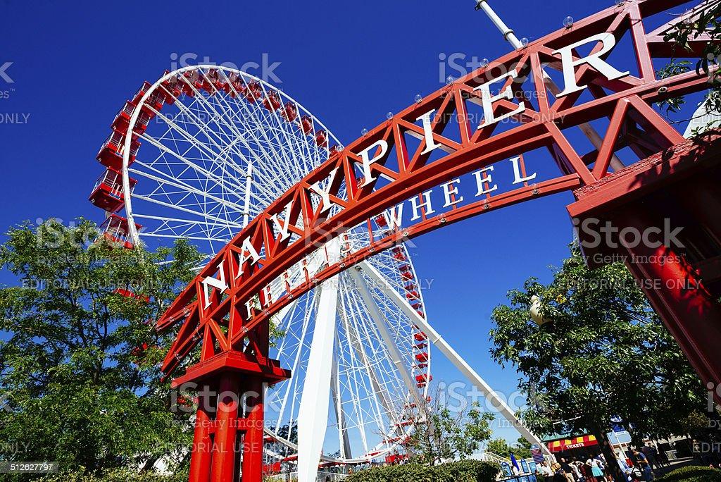 Chicago Navy Pier Ferris Wheel stock photo