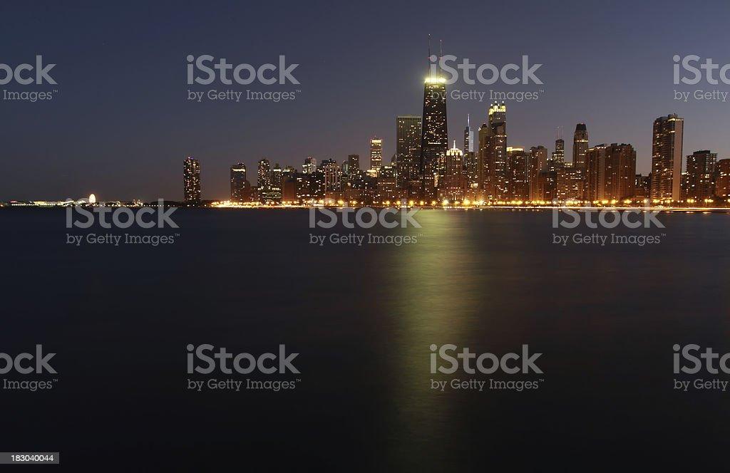 Chicago night view stock photo