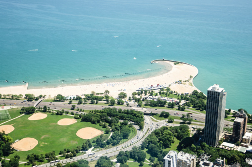 Chicago North Avenue Beach Stock Photo - Download Image Now