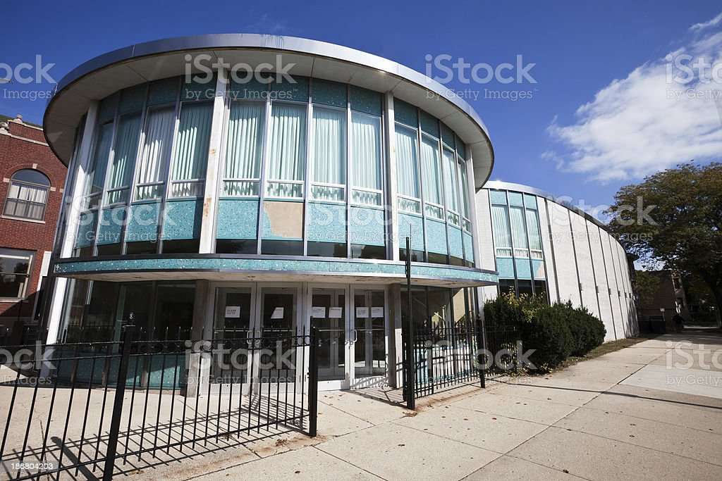 Chicago North Side Community Center royalty-free stock photo