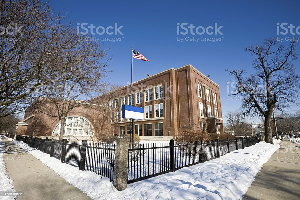 Chicago Northwest Side School royalty-free stock photo