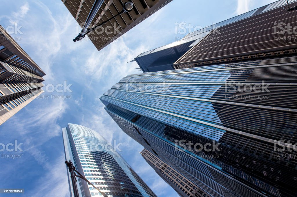Chicago office building from below stock photo