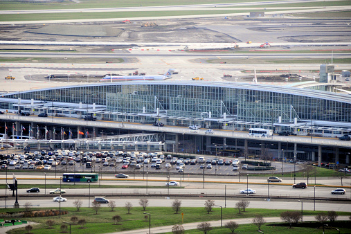 Chicago O'Hare International Airport, aerial view