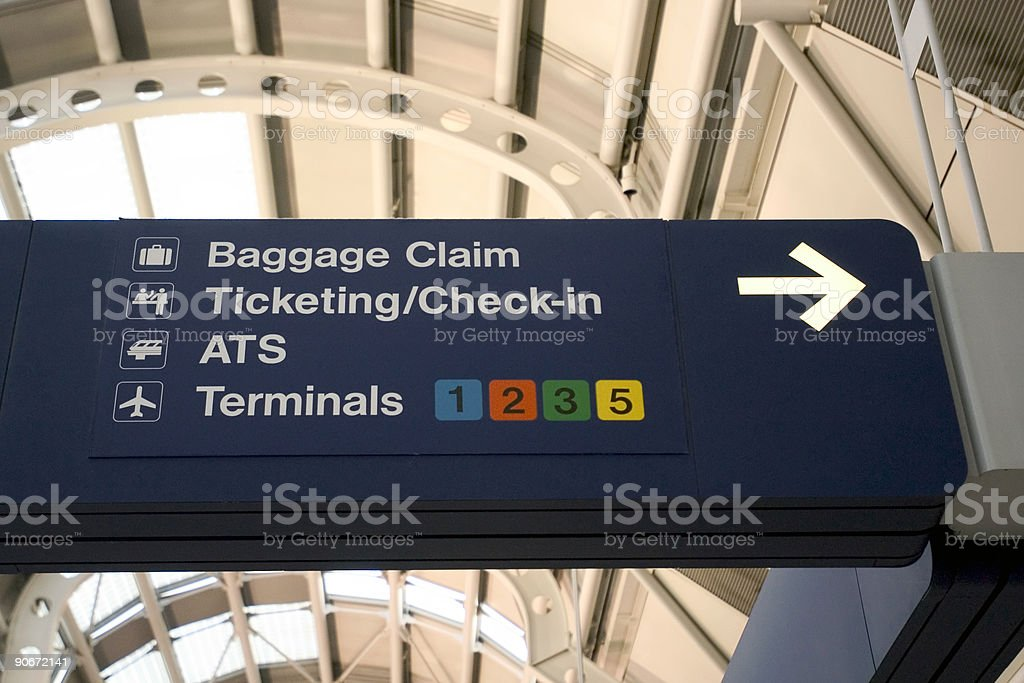 Chicago O'Hare International Airport - Royalty-free Airline Check-In Attendant Stock Photo