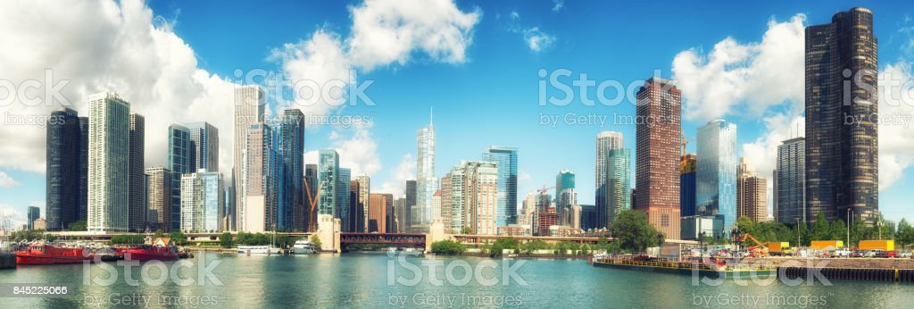 Chicago on a perfect day royalty-free stock photo