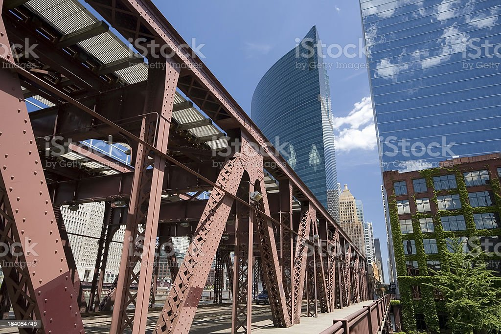 Chicago Overhead Railway royalty-free stock photo