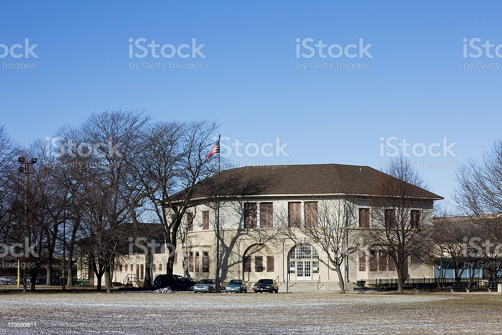Chicago Park Field House royalty-free stock photo