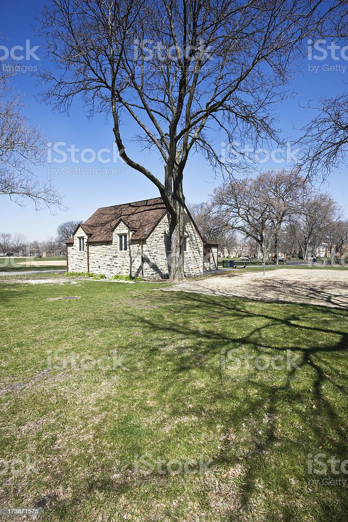 Chicago Park Vintage Building royalty-free stock photo