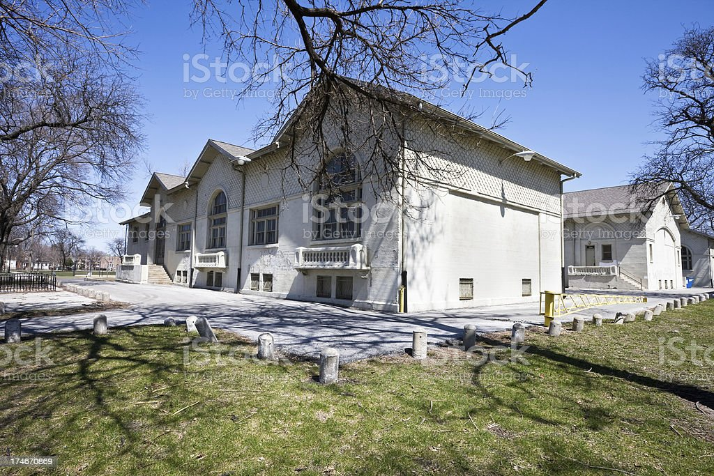 Chicago Park Vintage Field House royalty-free stock photo