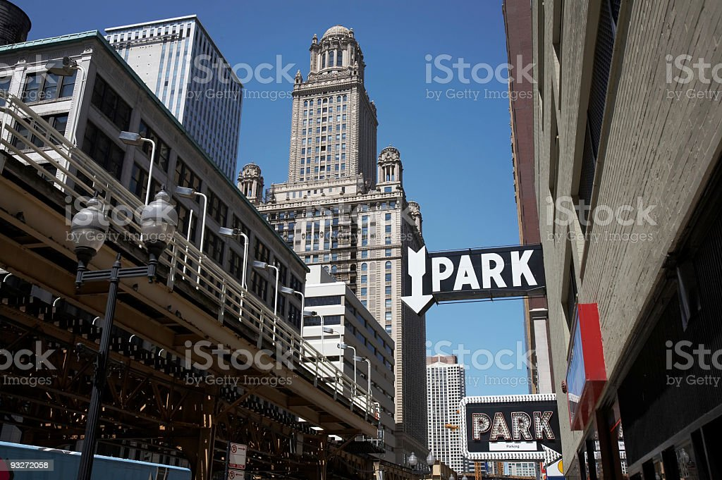 Chicago Parking royalty-free stock photo