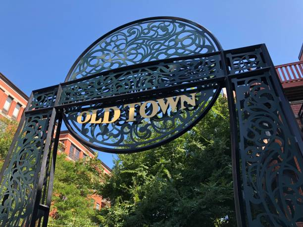Chicago Chicago old town sign. old town stock pictures, royalty-free photos & images