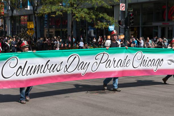 시카고 - columbus day 뉴스 사진 이미지