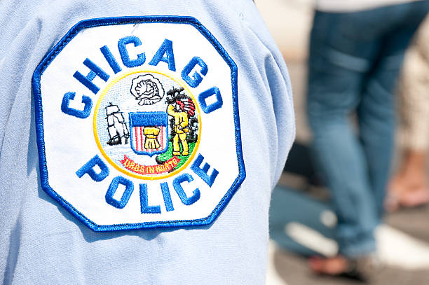 Chicago police patch stock photo