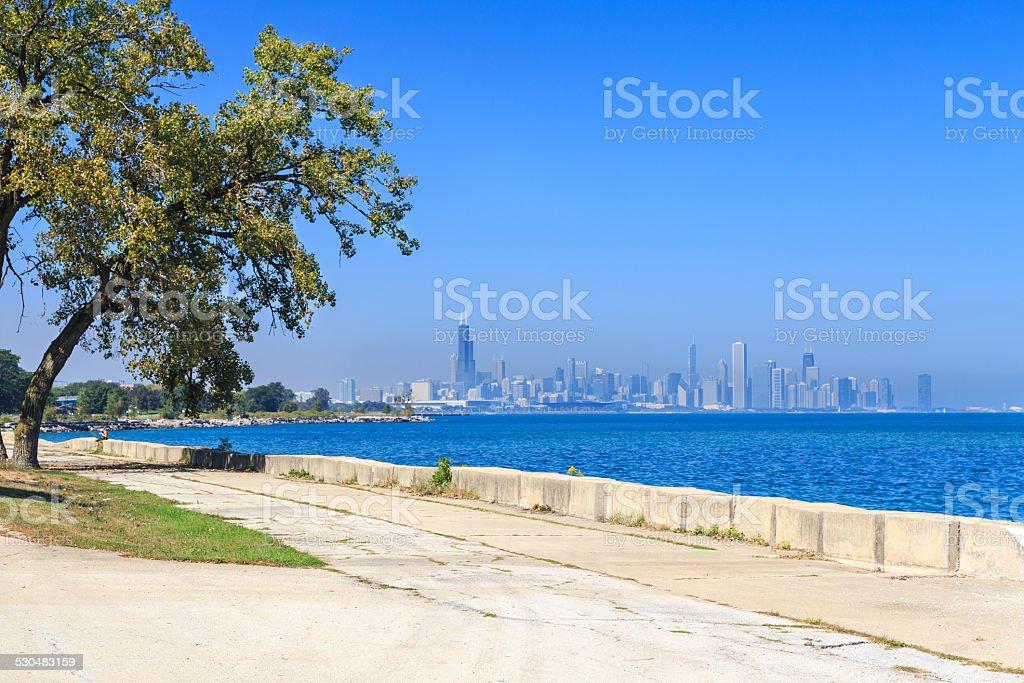 Chicago Promenade Skyline stock photo