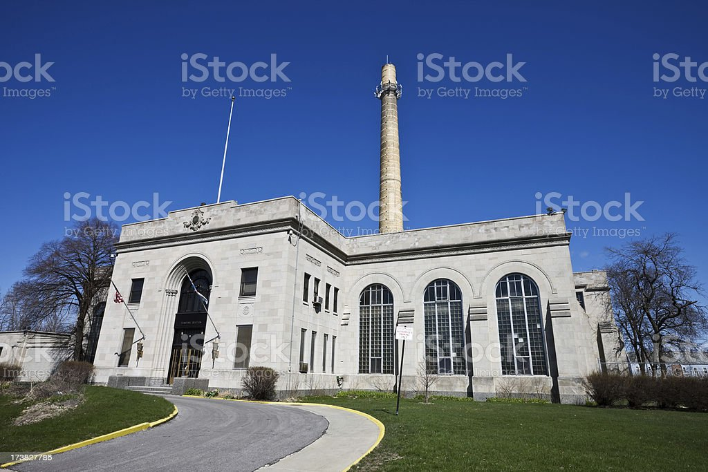 Chicago Pumping Station royalty-free stock photo