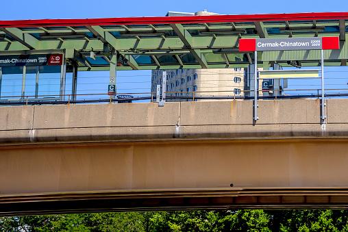 Chicago Red Line Chinatown Platform