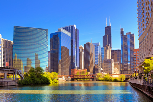 Chicago River and cityscape