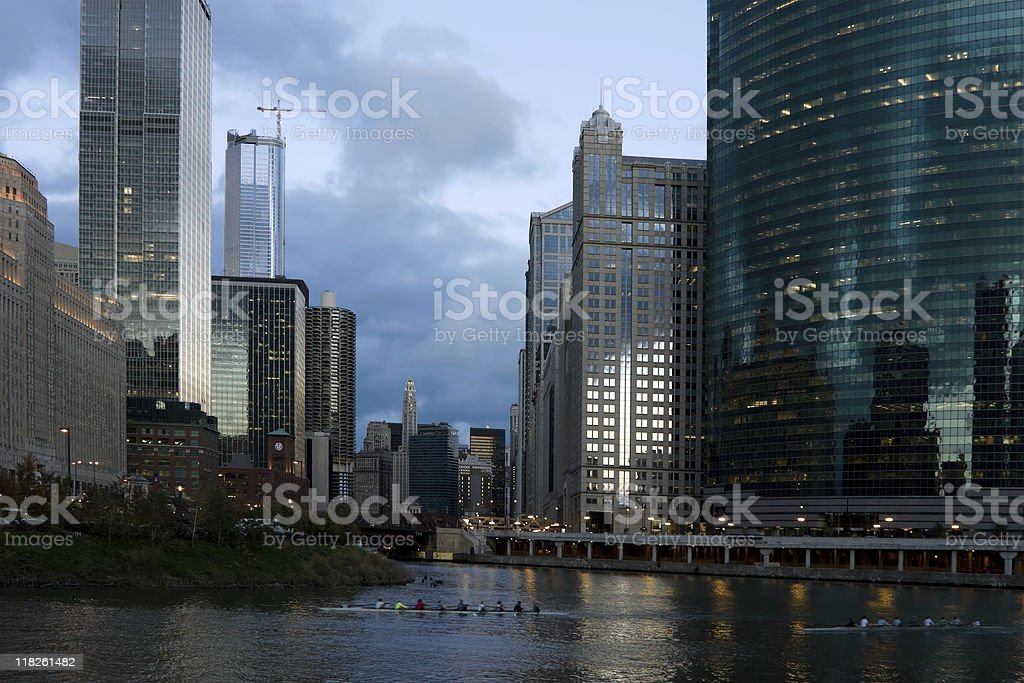 Chicago River Architecture stock photo