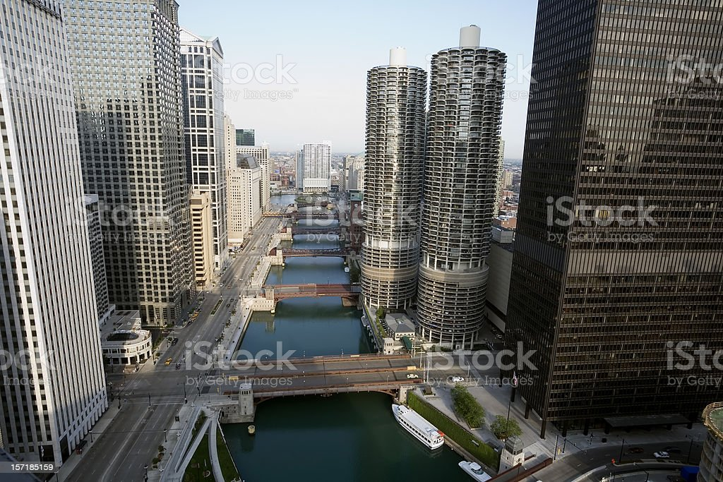 Chicago River from Above stock photo