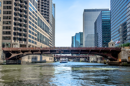 Chicago River Madison Street Bridge